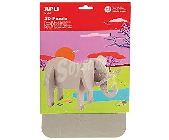 APLI Puzzle 3D de goma eva con forma de elefante. Edad recomendada de 4 a 8 años 1 unidad