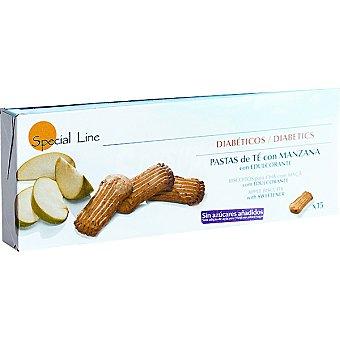 Special Line Pastas de té con manzana con edulcorante Diabéticos 15 unidades
