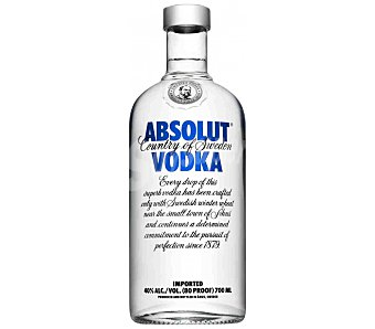 ABSOLUT vodka azul botella 1 l