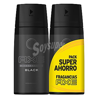 Axe Desodorante en spray Black 2 unidades de 125 ml