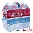 Agua mineral natural Pack 6 botellas x 1.5 l  Cortes