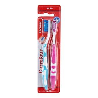 Carrefour Cepillo dental technic duro 2 ud
