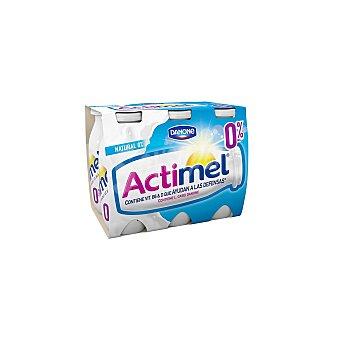 Actimel Danone Yogur para beber natural 0% materia grasa 6 unidades de 100 ml