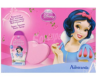 Disney Princess Estuche Navidad Niños: Gel de Baño y Ducha 250ml + Esponja 1u