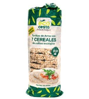 Ecocesta Tortitas de arroz con 7 cereales bio 140 g