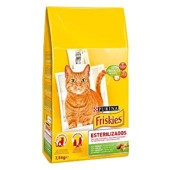 Friskies Purina Esterilizados gato rico en conejo y verduras 7,5 kg