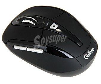 Qilive Ratón inalámbrico Negro, conexión Usb, color negro Q.8897 1 unidad