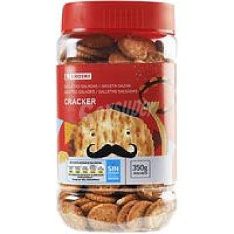 Eroski Galleta salada mini cracker Bote 350 g
