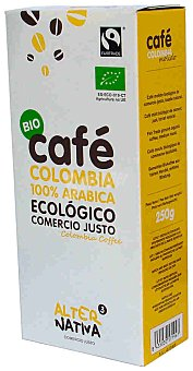 Alternativa 3 Café molido natural de Colombia ecológico Paquete 250 g