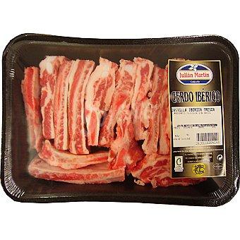 JULIAN MARTIN Costillas frescas de cerdo ibérico en tiras bandeja peso aproximado 700 g