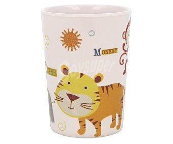Taberseo Vaso infantil con animales fabricado en melamina, 0,21 litros de capacidad, 7x10 centímetros 1 unidad
