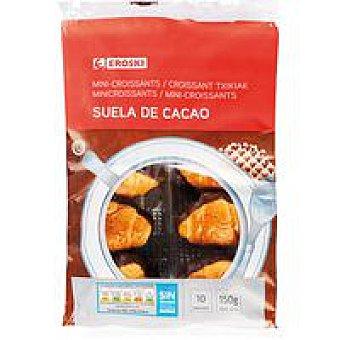 Eroski Mini croissants base de cacao Paquete 150 g