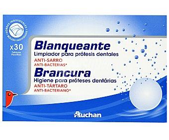 Auchan Tabletas Limpiadoras Blanqueantes 30 Unidades