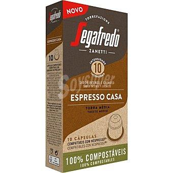 Segafredo Zanetti Café Espresso Casa tueste medio Intensidad 10 compatible Nespresso Estuche 10 cápsulas
