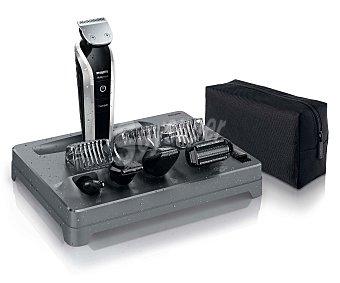 PHILIPS QG3380 Set de arreglo personal 9 en 1, alimentación sin cable, uso en mojado, para cara, cuerpo y cabello, función turbo, autonomía hasta 50 minutos