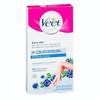 Veet Bandas de cera depilatoria para pieles sensibles Caja 20 u