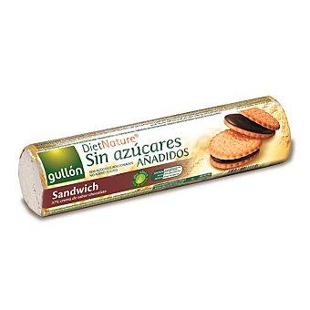 Gullón Galletas sándwich rellenas de chocolate sin azúcares añadidos Rodillo 250 g