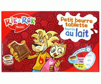 Rik&Rok Auchan Galletas de Chocolate con Leche Rellenas de Leche 250g