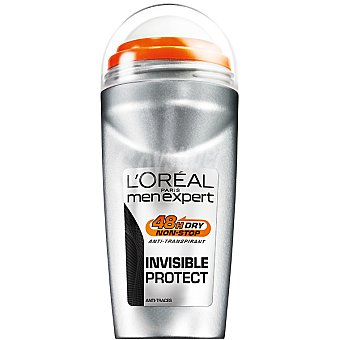 Men Expert L'Oréal Paris Desodorante roll-on Invisible Protect zero traces anti-transpirante Envase 50 ml