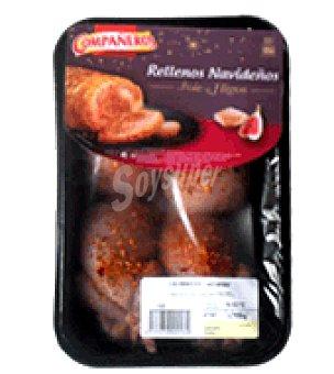Codornices rellenas de foie gras e higos Bandeja de 640 g