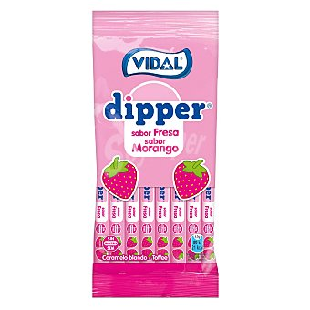 Vicente Vidal Caramelo blando toffe sabor fresa Dipper 90 G 90 g