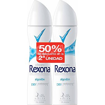 Rexona Women desodorante Algodón sin alcohol Pack 2 spray 200 ml