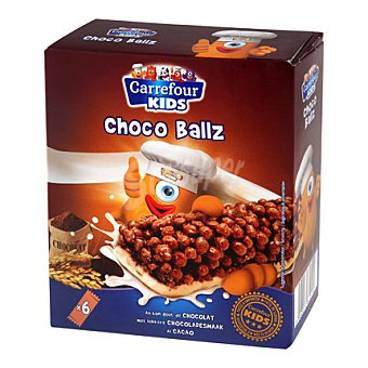 Carrefour Kids Barritas de cereales bolas de chocolate Pack de 6x21 g