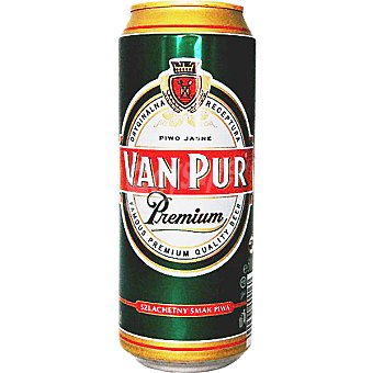 VAN PUR Premium Cerveza rubia Pilsen de Polonia Lata 50 cl