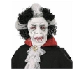 WIDMANN Máscara con peluca para disfraz de vampiro Halloween, 1 unidad