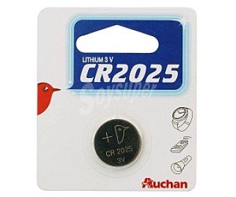 Auchan Pila litio CR2025 1 Unidad