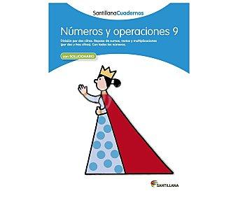 Santillana Cuaderno de actividades matemáticas Números y operaciones 9. Género: libros de actividades. Editorial Santillana