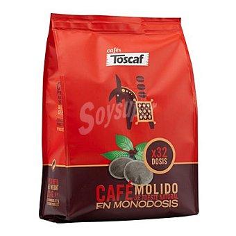 Toscaf Café monodosis natural 32 ud