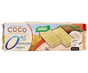Santiveri Galletas rellenas de coco sin azúcar Paquete 160 g