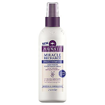 Aussie Tratamiento Miracle Recharge Frizz Remedy con aceite de semilla de jojoba australiano Spray 250 ml