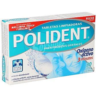 Polident Tabletas limpiadoras para prótesis dental  Caja 30 unidades