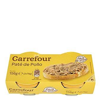 Carrefour Pate de pollo Pack 2x78 g