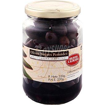 Caimari Aceitunas negras pansidas mallorquina frasco 250 g neto escurrido Frasco 250 g neto escurrido