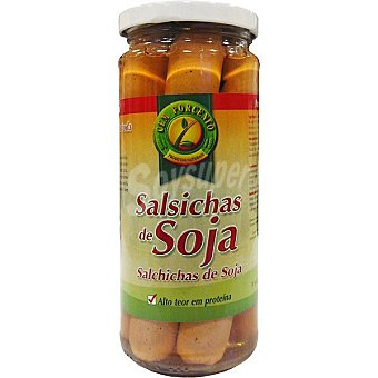 Cem porcento Salchichas de soja tipo frankfurt  frasco 260 g