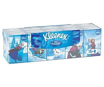 Kleenex Pañuelos tissue desechables de celulosa de Mickey y Minnie 15u
