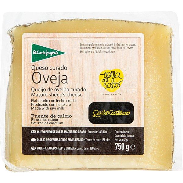 El corte ingl s queso curado de oveja cu a 750 g for Cuchillo queso el corte ingles
