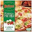 Pizza caprese tomate cherry mozzarella y pesto  Caja 350 g Buitoni Forno Di Pietra