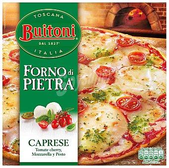 Buitoni Forno Di Pietra Pizza caprese tomate cherry mozzarella y pesto  Caja 350 g