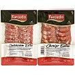 Surtido de chorizo y salchichón extra sin gluten Pack de 2 unidades de 125 g Farcedo