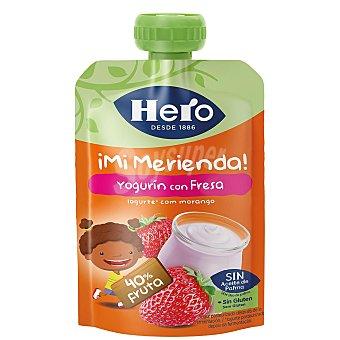 Hero Nanos ¡Mi merienda! yogur con fresa sin gluten formato Bolsita 100 g