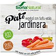Paté vegetal con tofu estilo jardinera ecológico Soria Natural sin gluten Pack 2 unidades de 50 g Soria Natural