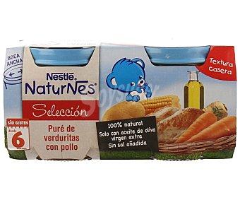 Naturnés Nestlé Tarritos de verduras con pollo Pack de 2 unidades de 200 gramos