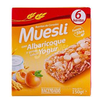 Hacendado Barrita cereales muesli albaricoque y yogur Caja 150 g