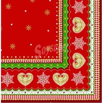 Papstar servilletas Christmas Border 3 capas 40x40 cm  paquete 20 unidades