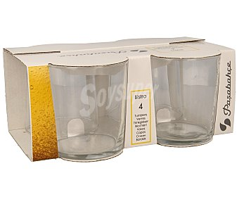 Pasabahce Vasos de pinta Bistro, 36 centilitros de capacidad Pack de 4 unidades