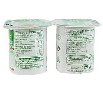 Auchan Yogur Bífidus Desnatado Natural 4 Unidades de 125 Gramos